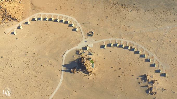Desert Quiver Camp Aerial View