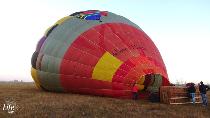 Heißluftballonflug in Südafrika