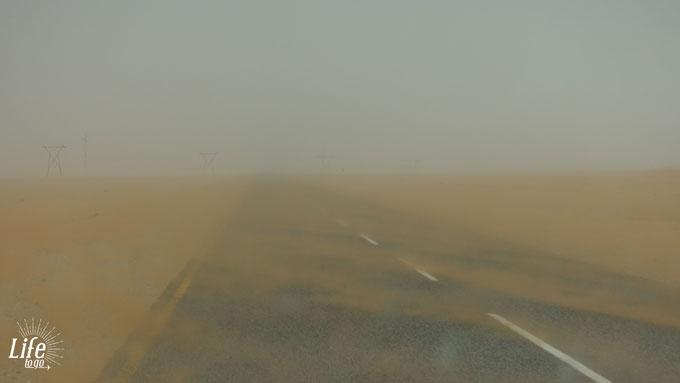 Sandsturm bei Lüderitz