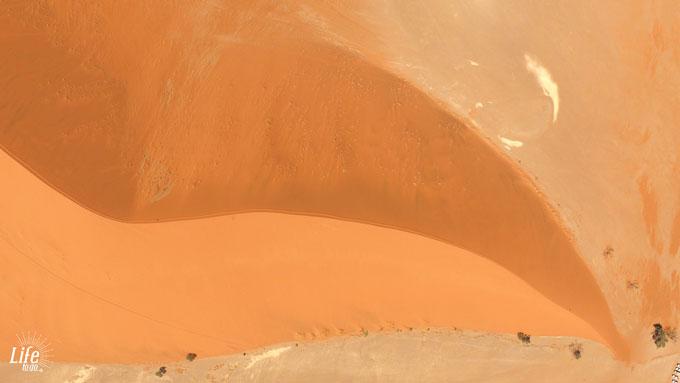 Sossusvlei Dünen aus der Luft mit Drohne