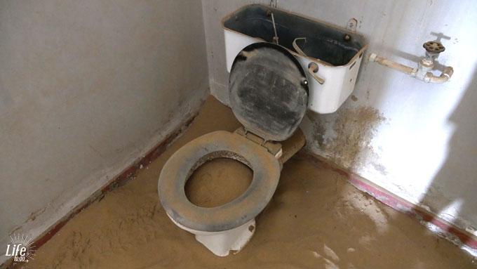 Toilette im Krankenhaus der Geisterstadt Kolmanskop