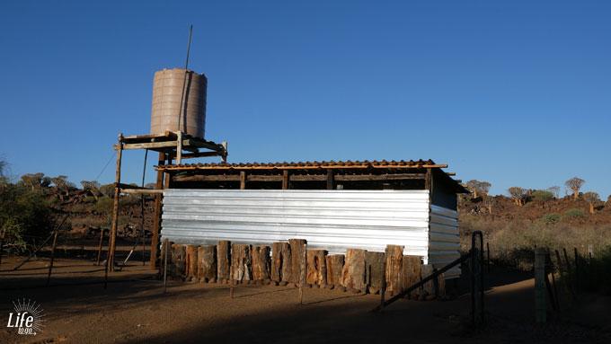 Toilette und Badezimmer Camping Namibia