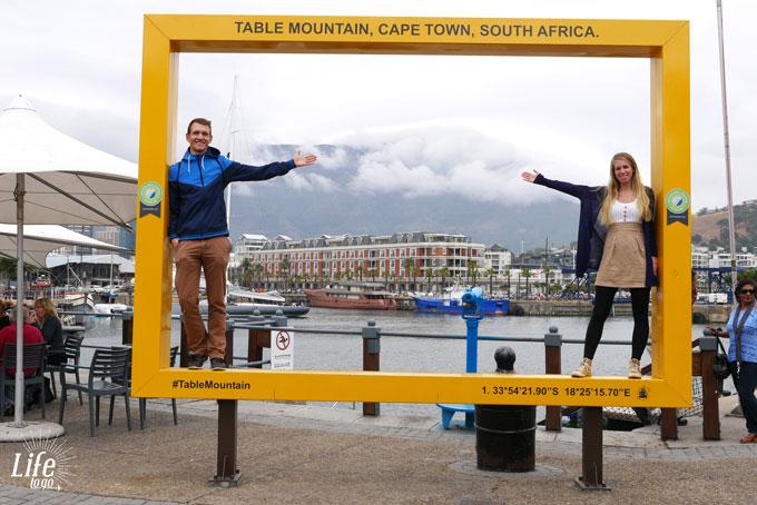 V&A Waterfront Kapstadt mit Tafelberg Aussicht