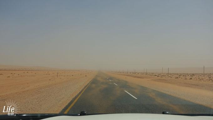Sandsturm in Namibia zwischen Aus und Lüderitz