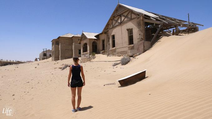verlassene Diamantenstadt Kolmanskop bei Lüderitz