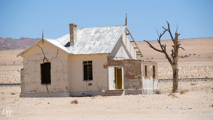 verlassenes Haus in Namibia
