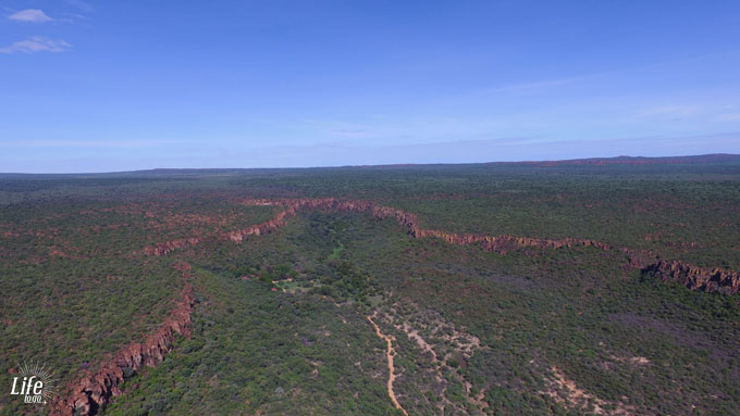Waterberg Plateau Namibia aus der Luft
