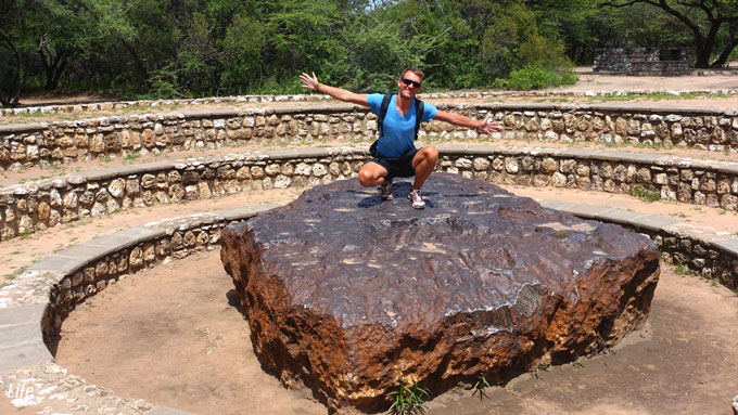 biggest Meteorite on Earth - Hoba Meteorite in Namibia