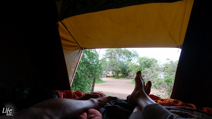 Campen im Zelt auf dem Dach im Krüger Nationalpark