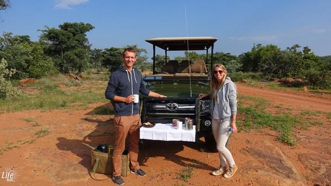 Frühstückssnack auf Safari im Welgevonden Game Reserve