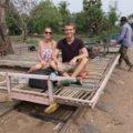 Fahrt mit dem Bamboo Train in Battambang Kambodscha