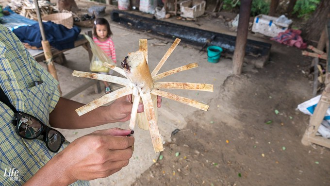 Bamboo Sticky Rice in Kambodscha