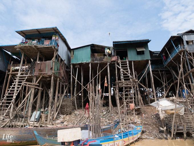 Stelzenhäuser schwimmendes Dorf Kompong Phluk