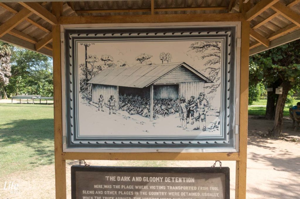 Tafel auf den Choeung Ek Killing Fields