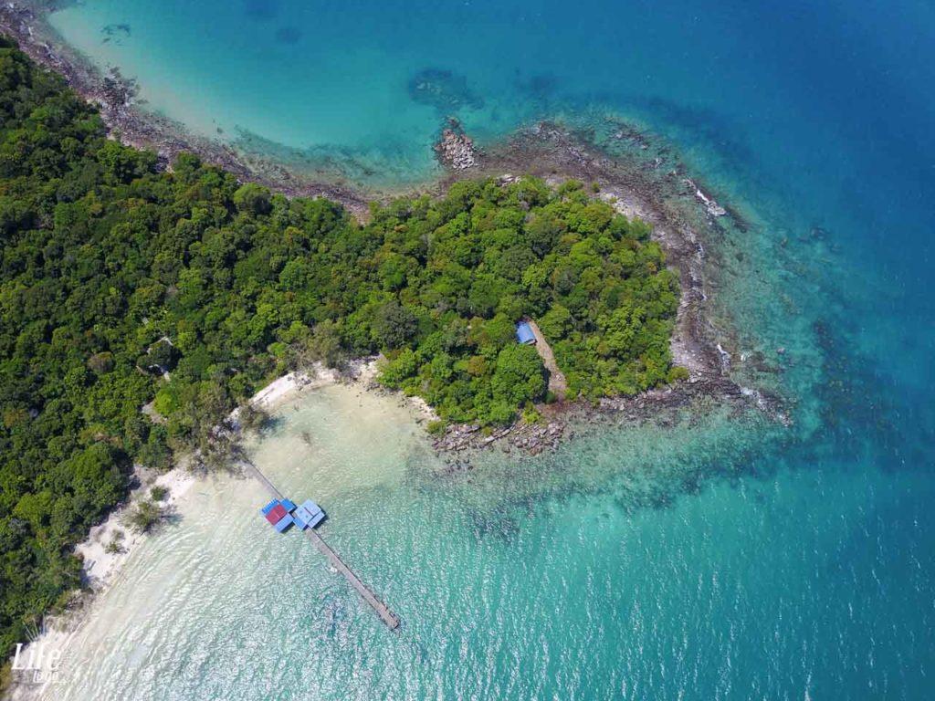 Koh Rong Samloem Clearwater Bay - Drohnen Aufnahme - DJI Mavic Pro