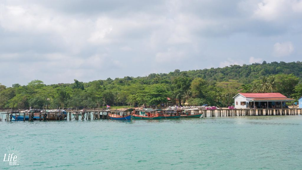 M'pai Bay Pier auf Koh Rong Samloem