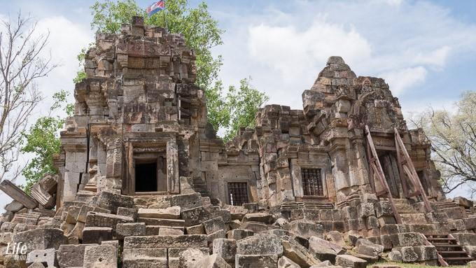 Wat Ek Phnom Ruine in Battambang, Kambodscha