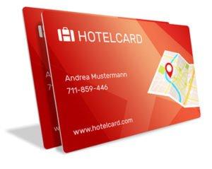 Hotelcard Karten um Hotels zum halben Preis buchen zu können