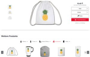 Ananas Turnbeutel von Life to go im Weltreise Shop