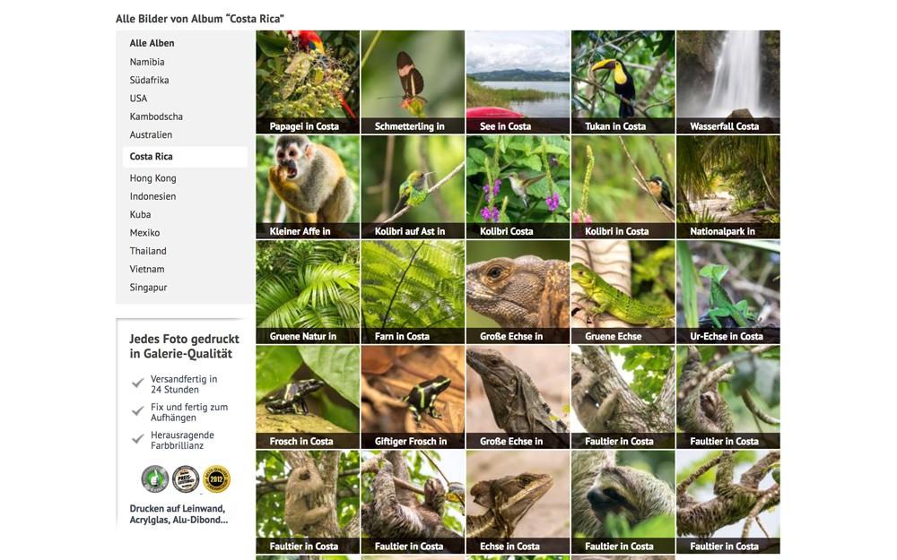 Costa Rica Bilder auf Leinwand von Life to go