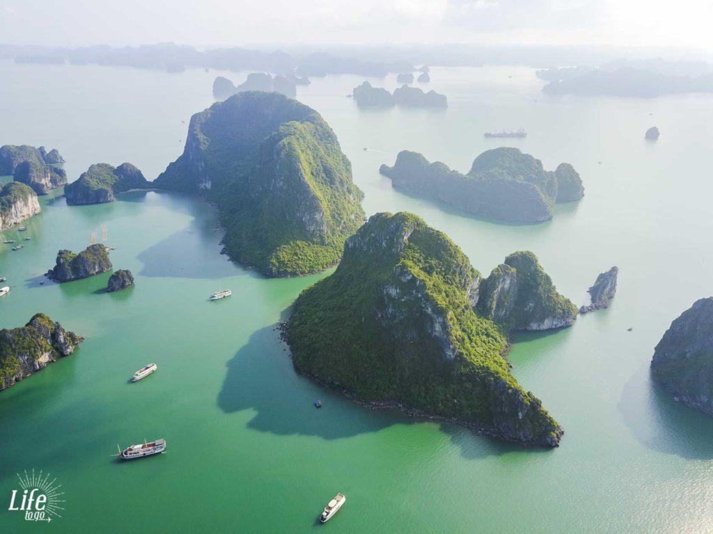 Luftaufnahme Halong Bucht Vietnam Reisetipps
