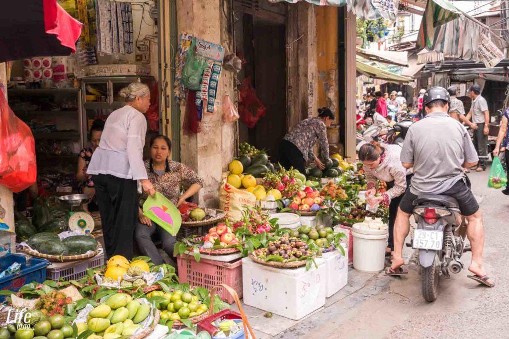 Markt in Hanoi auf Vietnam Rundreise