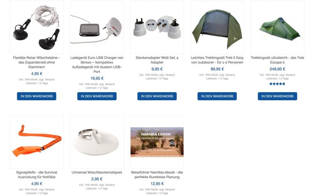 Weltreise Shop mit Outdoor Ausrüstung von Life to go
