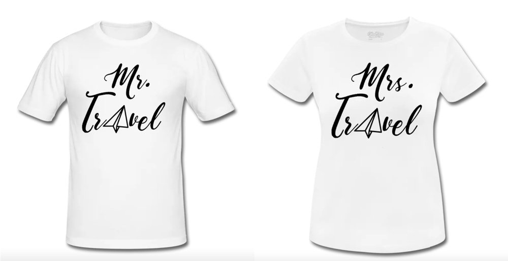 Mister und Misses Travel Shirts by Life to go im Weltreise Shop
