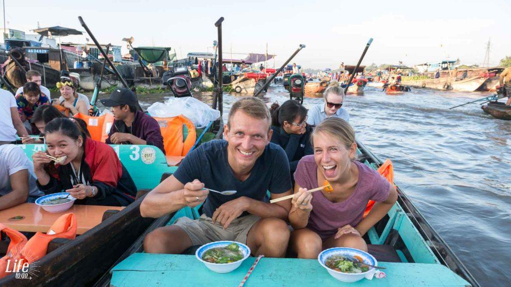 Frühstück Mekong River Pho Nudel Suppe