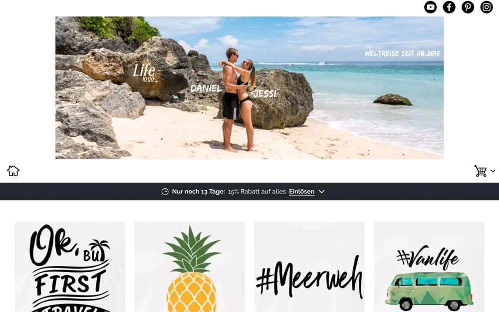 Life to go Spreadshirt Shop für Weltreise Shirts und Merchandising