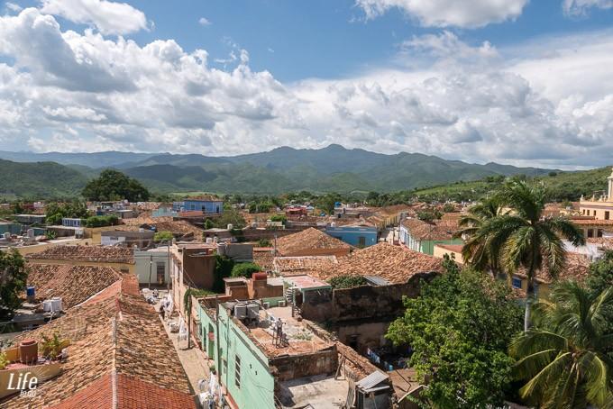 Aussicht auf Trinidad von unserer Unterkunft - Casa Hostal Rosy y Meca - Kuba