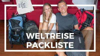 Weltreise Packliste Rucksack Kleidung Technik