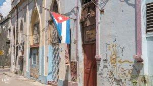 Kubanische Flagge in Havanna
