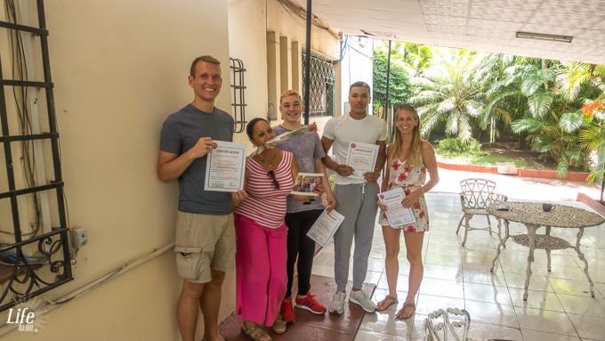Letzter Schultag in der Sprachschule auf Kuba