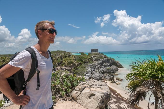 Tulum Ruinen und Meer