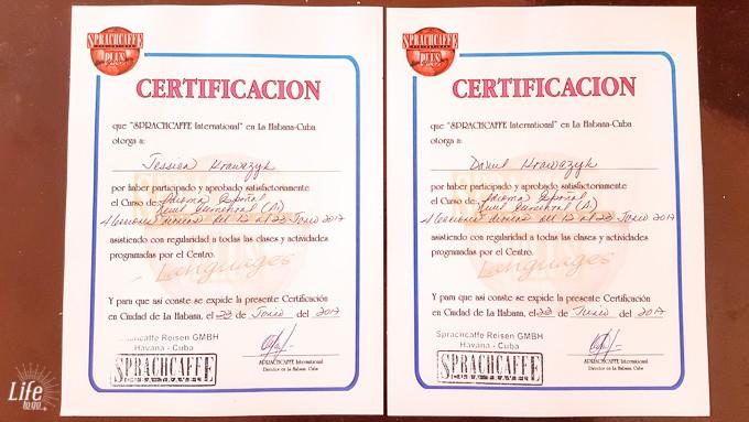 Spanisch lernen auf Kuba - unsere Zertifikate