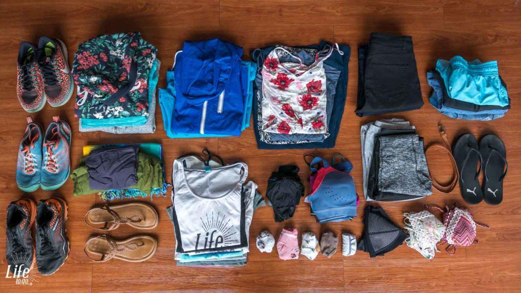 Damenbekleidung auf Weltreise
