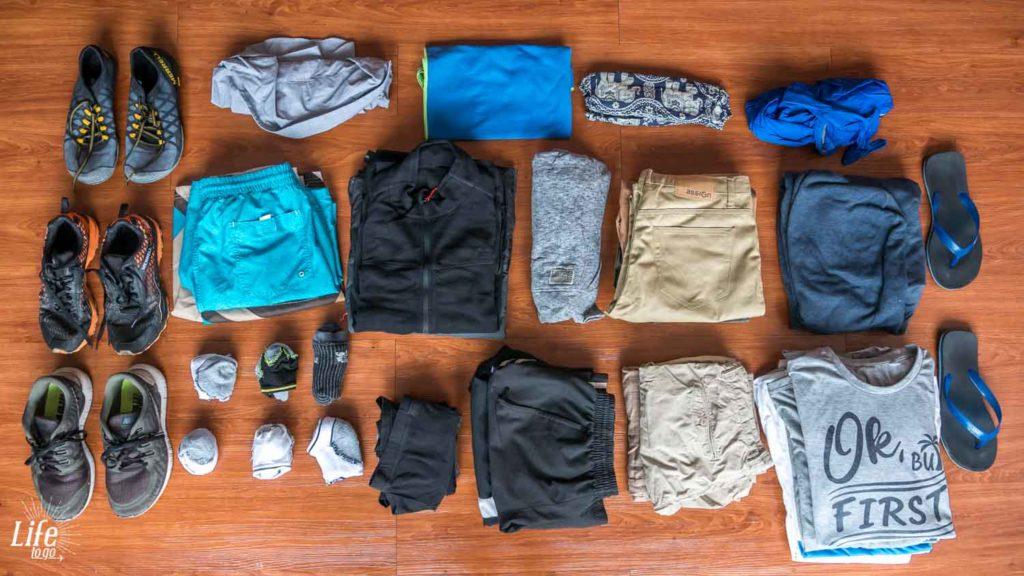 Männerbekleidung auf Weltreise