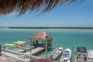 Aussicht auf Wasser auf Yucatan Rundreise