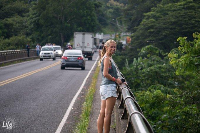 Auf der Rio Tarcoles Brücke