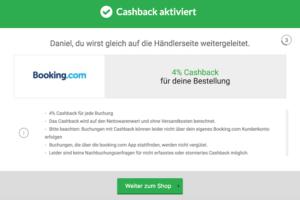 Booking.com Cashback über iGraal