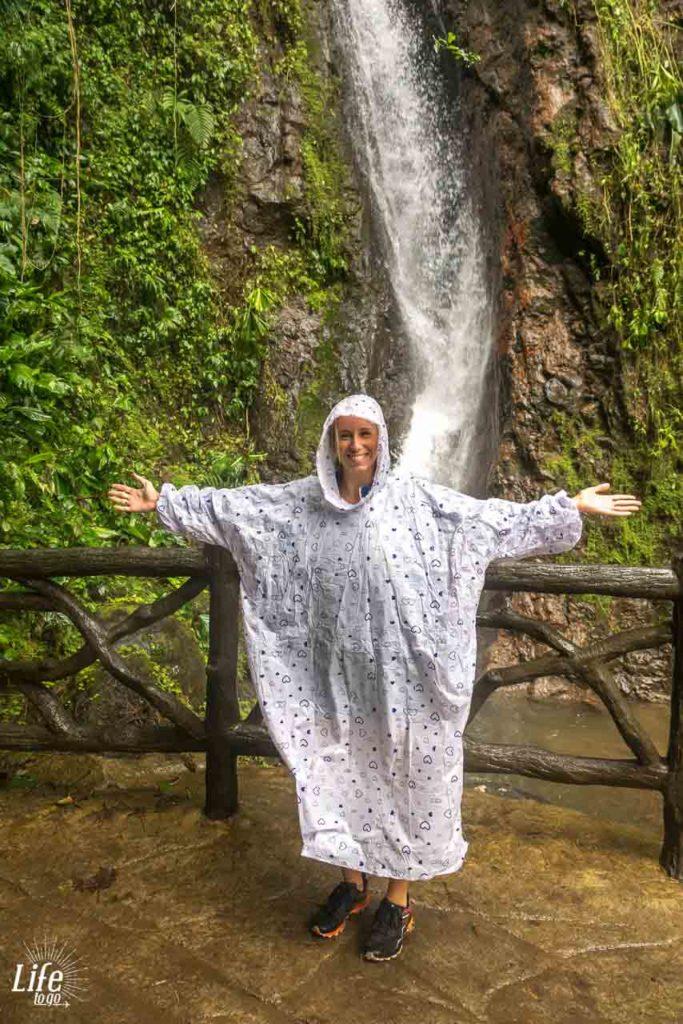 Wasserfall Mistico Hanging Bridges Park Costa Rica