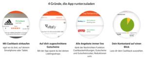 iGraal Cashback App für Smartphone und Tablet