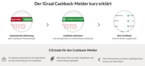 iGraal Cashback Melder für Chrome, Firefox, Safari und Internet Explorer