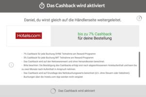 iGraal Cashback wird aktiviert