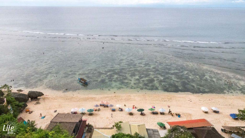 Thomas Beach Bali von oben