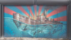 Eins von etlichen Wynwood Walls Graffitis
