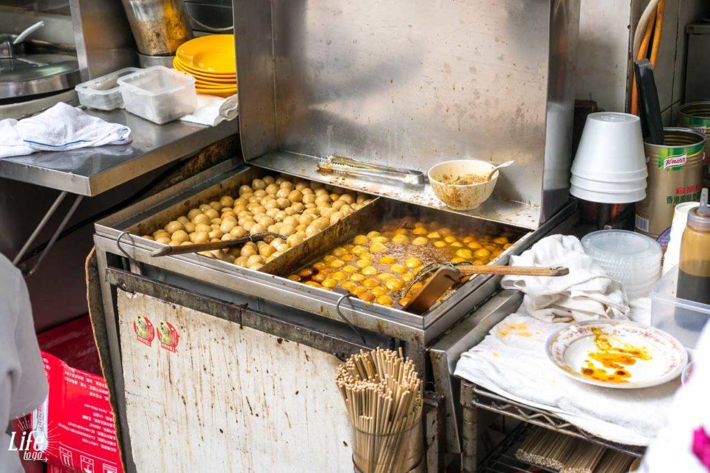 Straßen-Garküche in Hong Kong