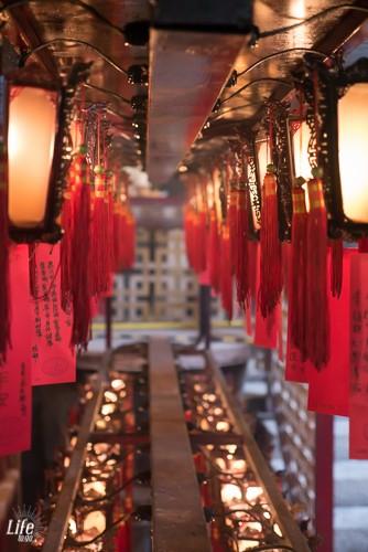 Der Man Mo Tempel in Hong Kong von innen