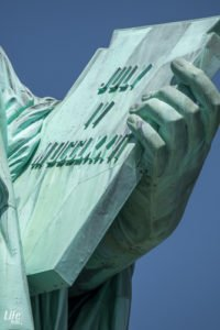 Freiheitsstatue Inschriftentafel